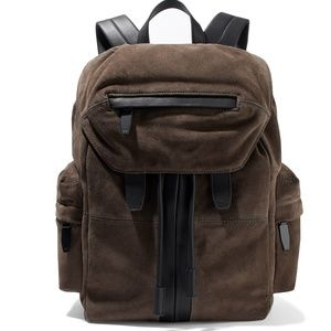 NWT Alexander Wang Leather-trimmed Suede Backpack